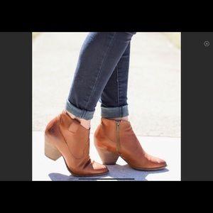 Frye Reina Leather Booties Size 8
